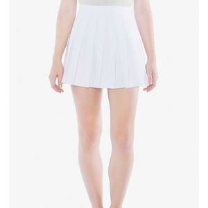American Apparel White Tennis Skirt size small
